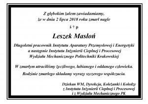 Leszek Masłoń 2018