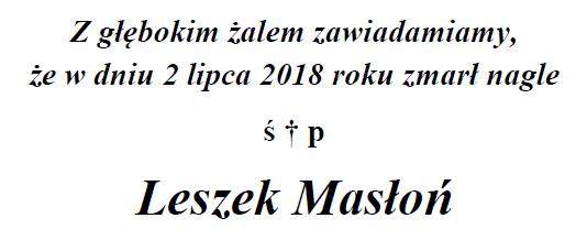 Leszek Masłoń